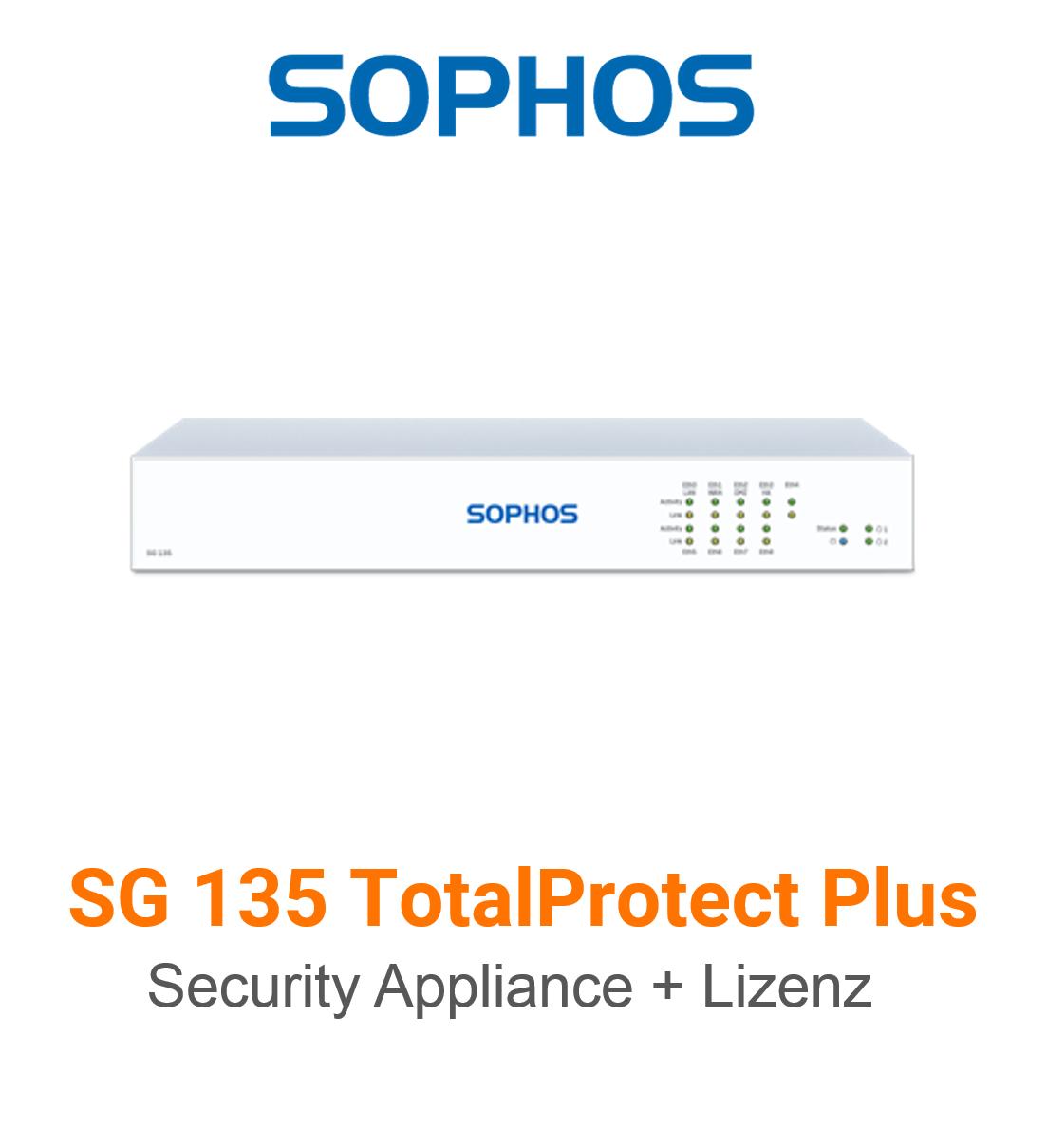Sophos SG 135 TotalProtect Plus Bundle (Hardware + Lizenz)