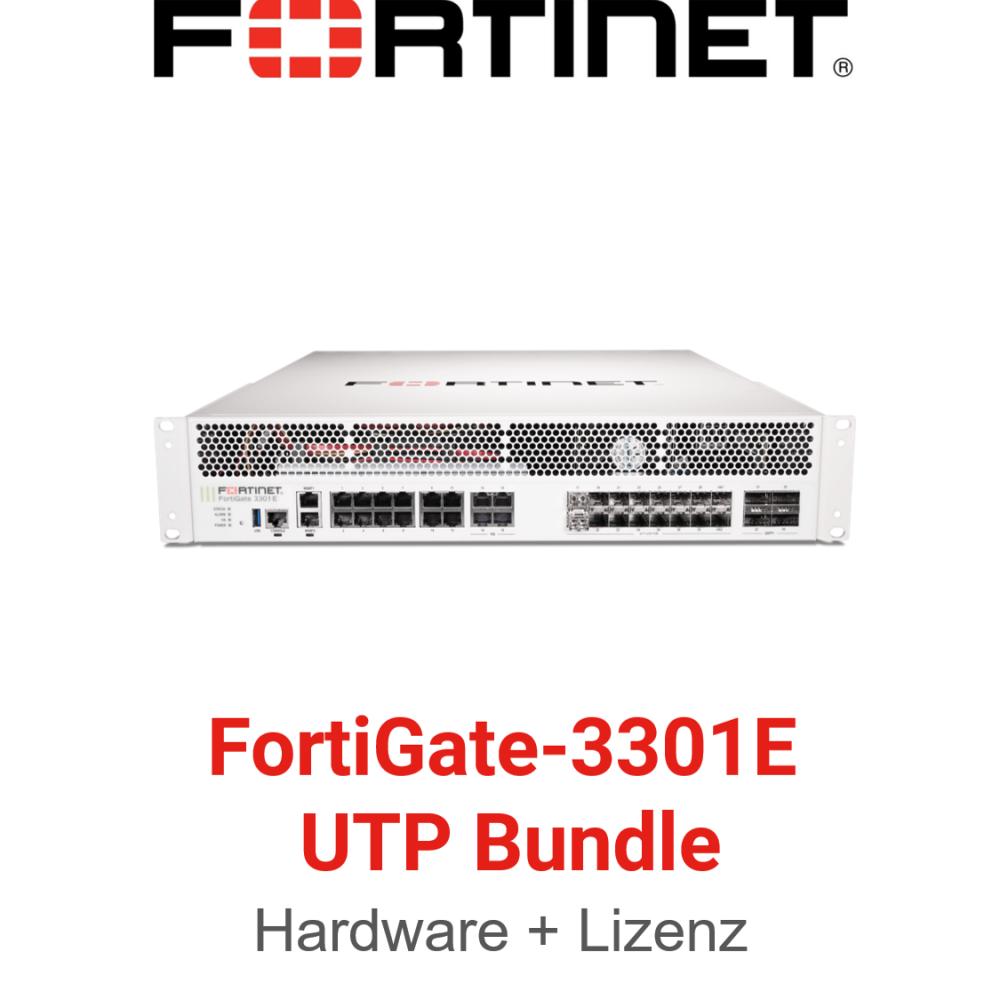 Fortinet FortiGate-3301E - UTM/UTP Bundle (Hardware + Lizenz)
