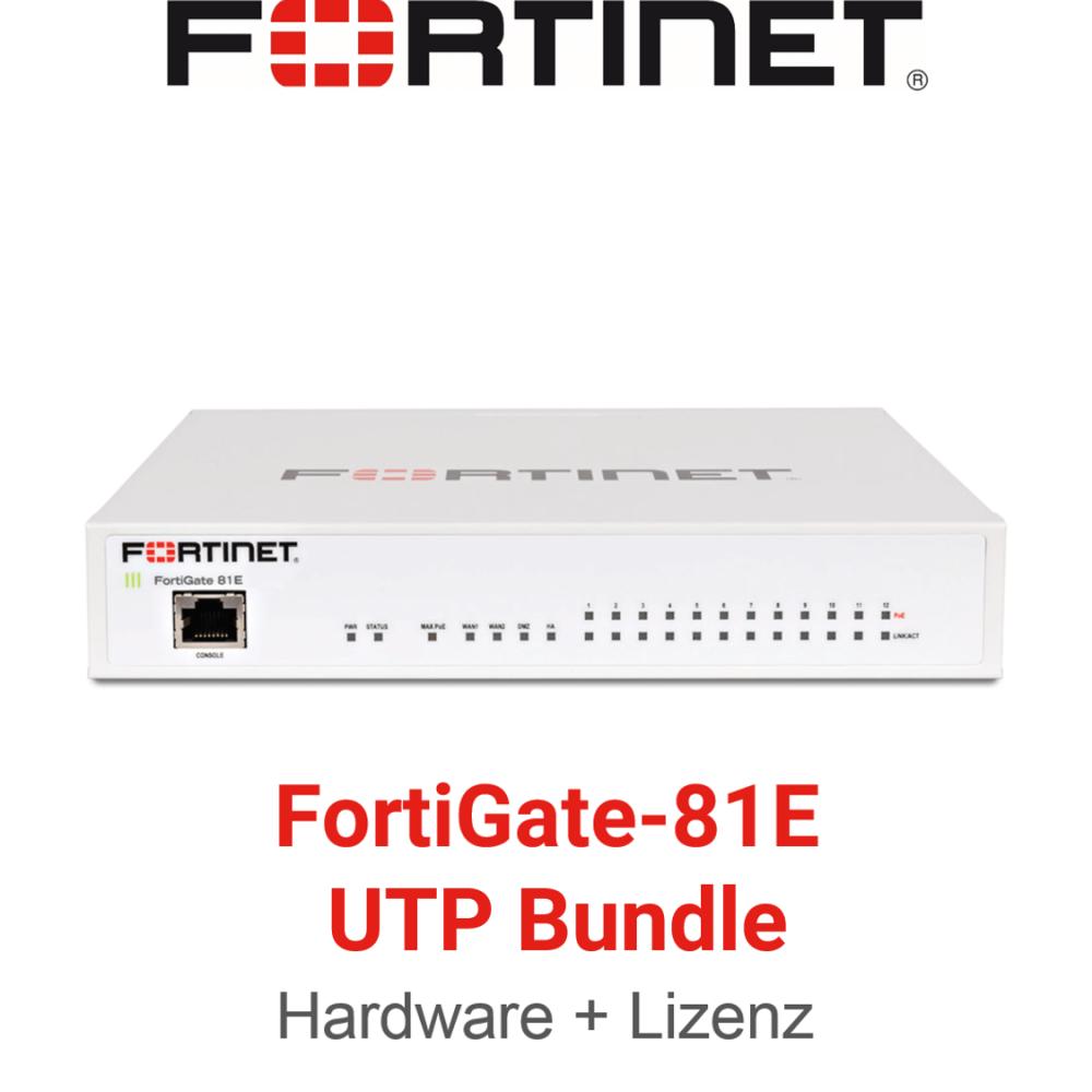 Fortinet FortiGate-81E - UTM/UTP Bundle (Hardware + Lizenz)