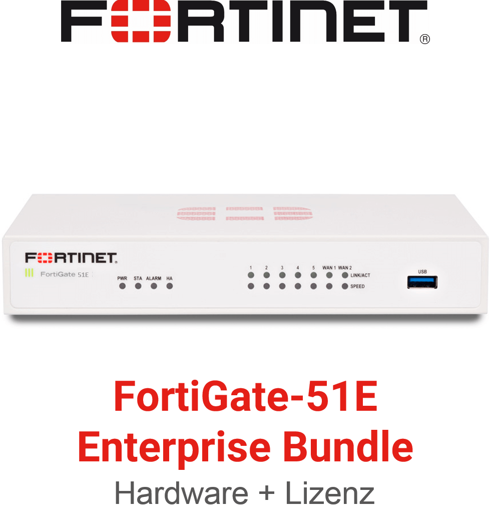 Fortinet FortiGate FG-51E - Enterprise Bundle (Hardware + Lizenz)