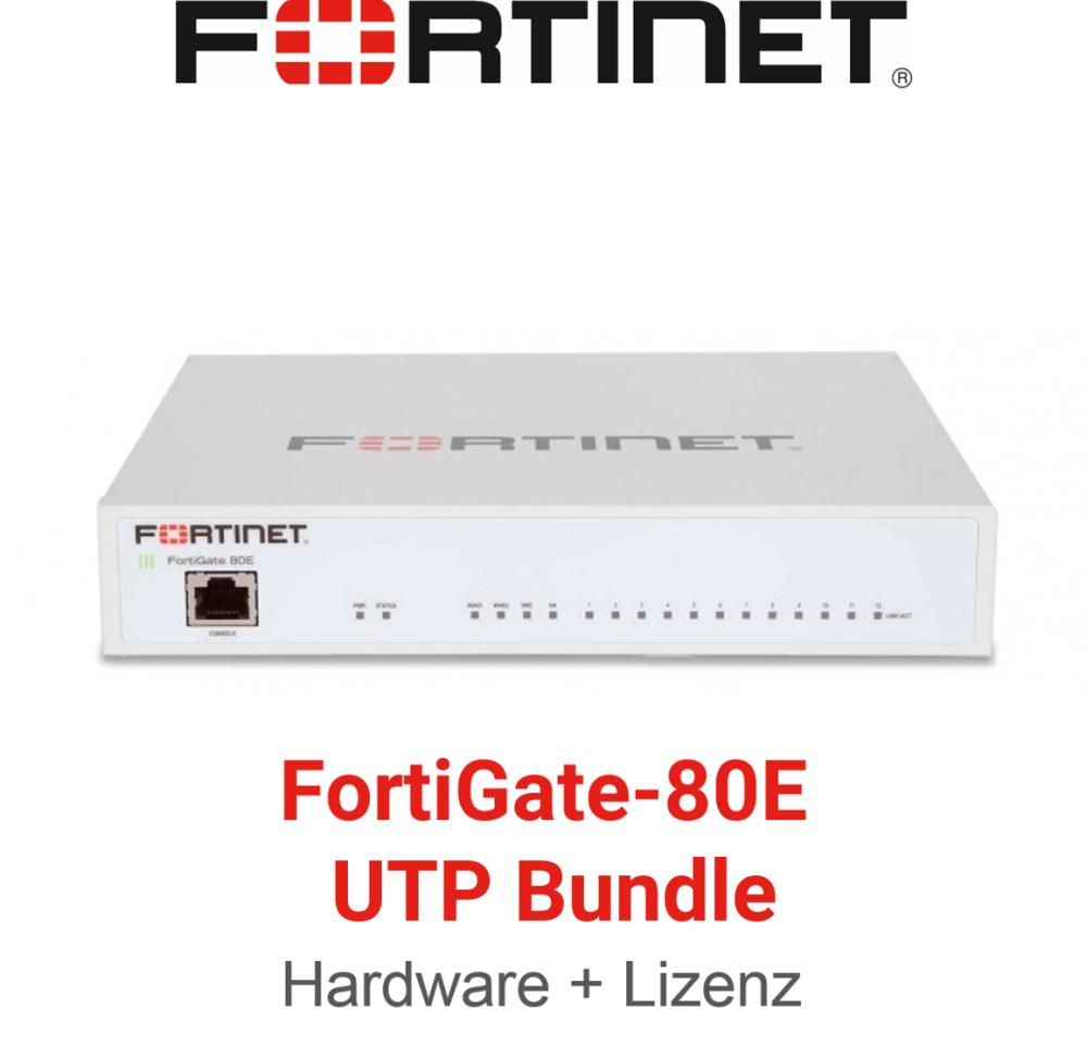 Fortinet FortiGate-80E - UTM/UTP Bundle (Hardware + Lizenz)