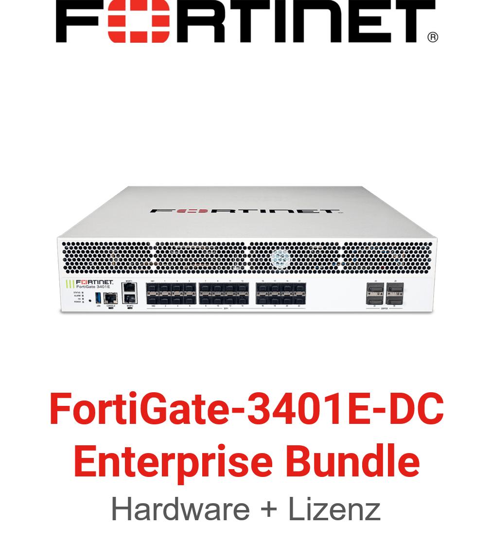 Fortinet FortiGate-3401E-DC Enterprise Protection Bundle