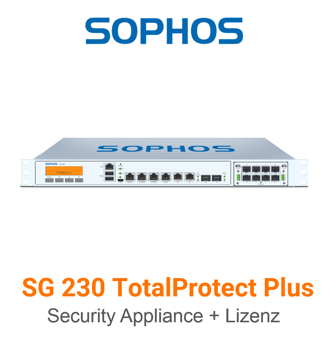 Sophos SG 230 TotalProtect Plus Bundle (Hardware + Lizenz)