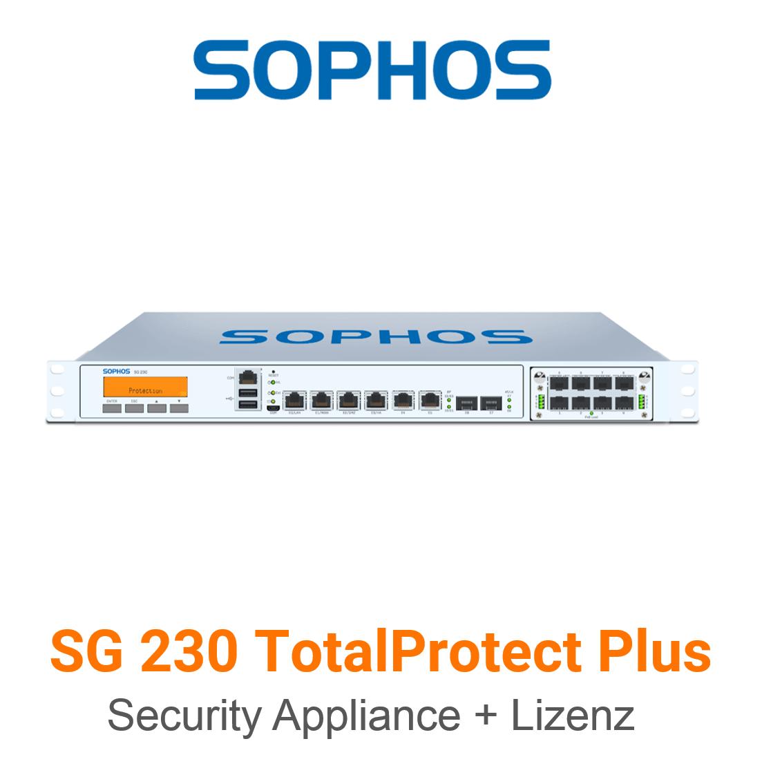 Sophos SG 230 TotalProtect Plus Bundle (Hardware + Lizenz)