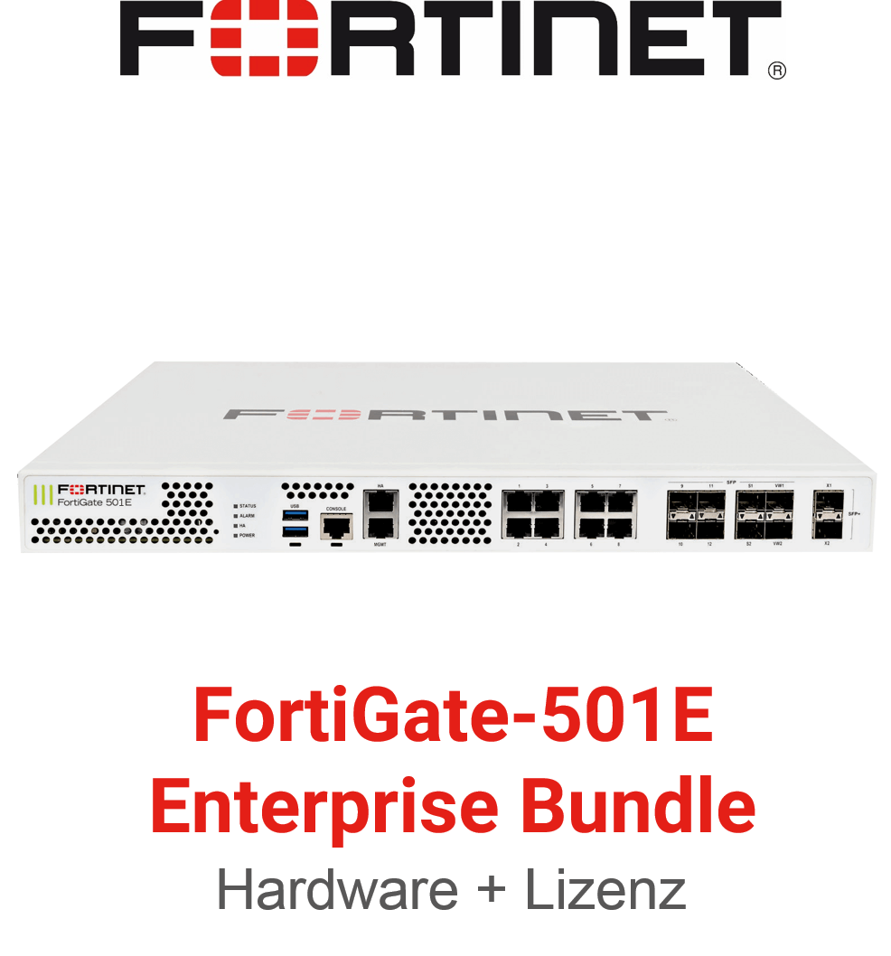 Fortinet FortiGate-501E - Enterprise Bundle (Hardware + Lizenz)