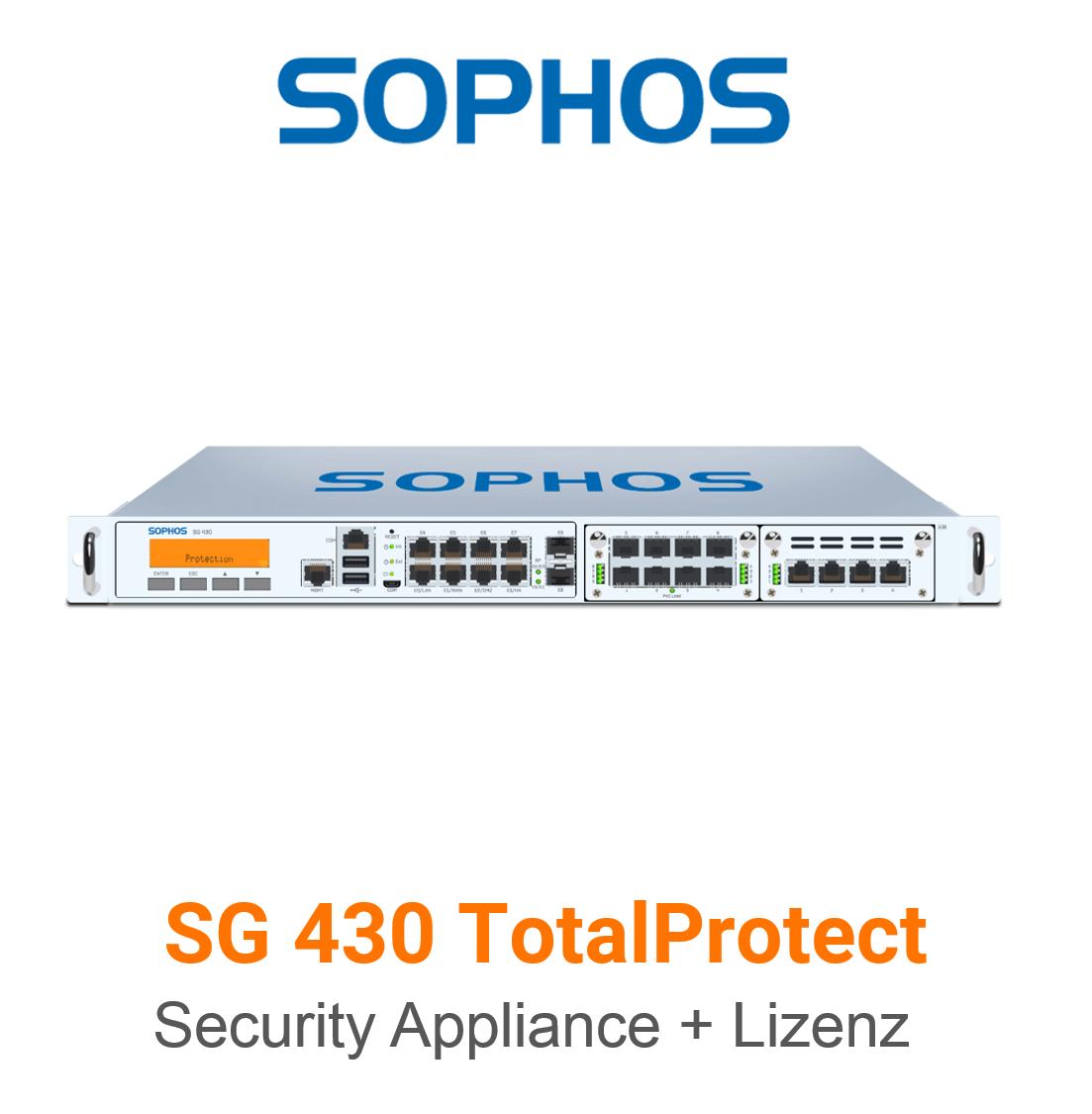 Sophos SG 430 TotalProtect Bundle (Hardware + Lizenz)