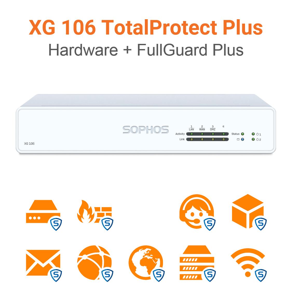Sophos XG 106 TotalProtect Plus Bundle (Hardware + Lizenz)