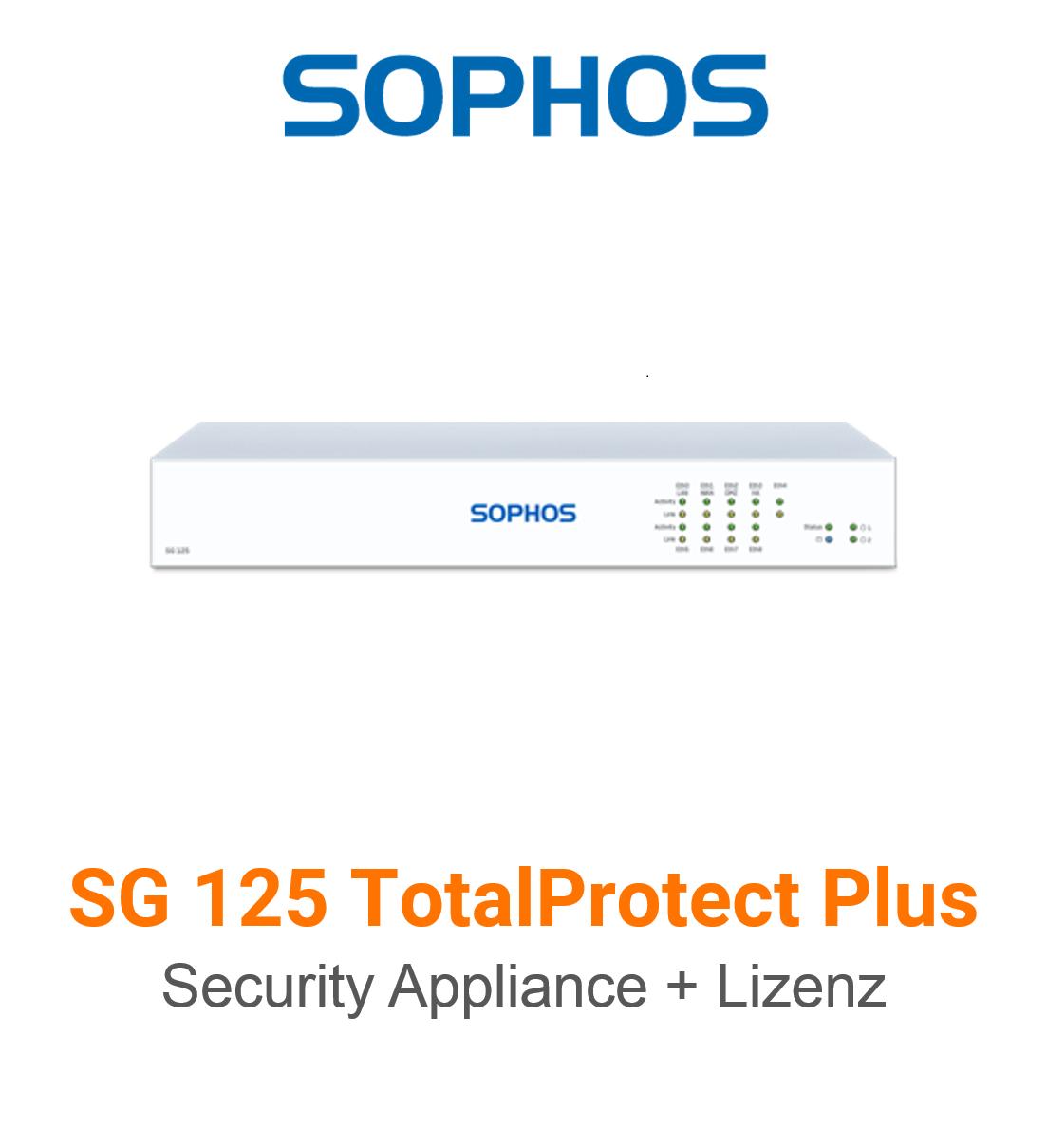 Sophos SG 125 TotalProtect Plus Bundle (Hardware + Lizenz)