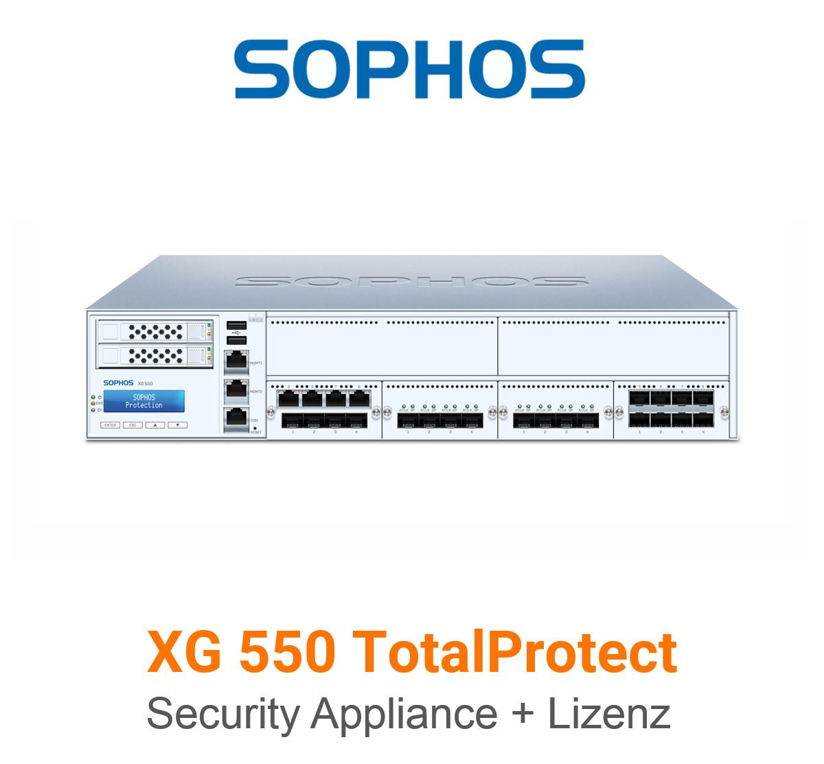 Sophos XG 550 TotalProtect Bundle (Hardware + Lizenz)