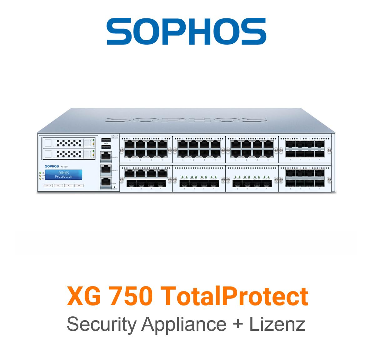 Sophos XG 750 TotalProtect Bundle (Hardware + Lizenz)
