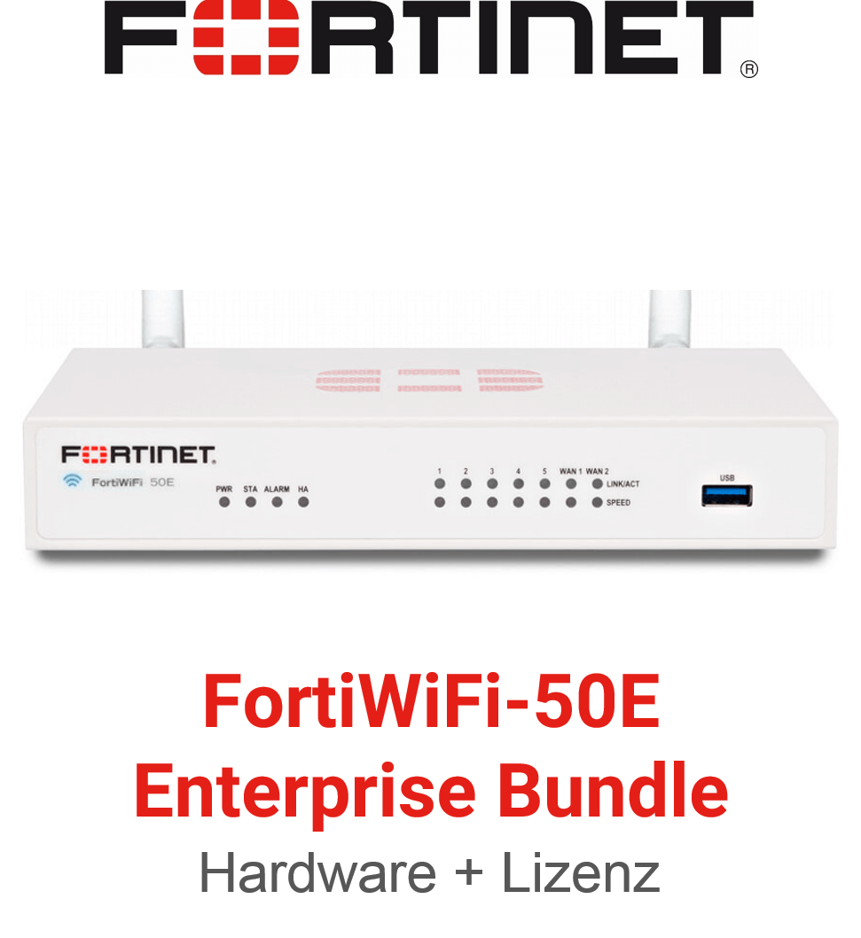 Fortinet FortiWifi-50E - Enterprise Bundle (Hardware + Lizenz)