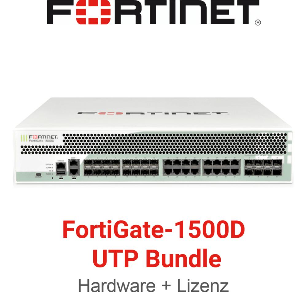 Fortinet FortiGate-1500D - UTM/UTP Bundle (Hardware + Lizenz)