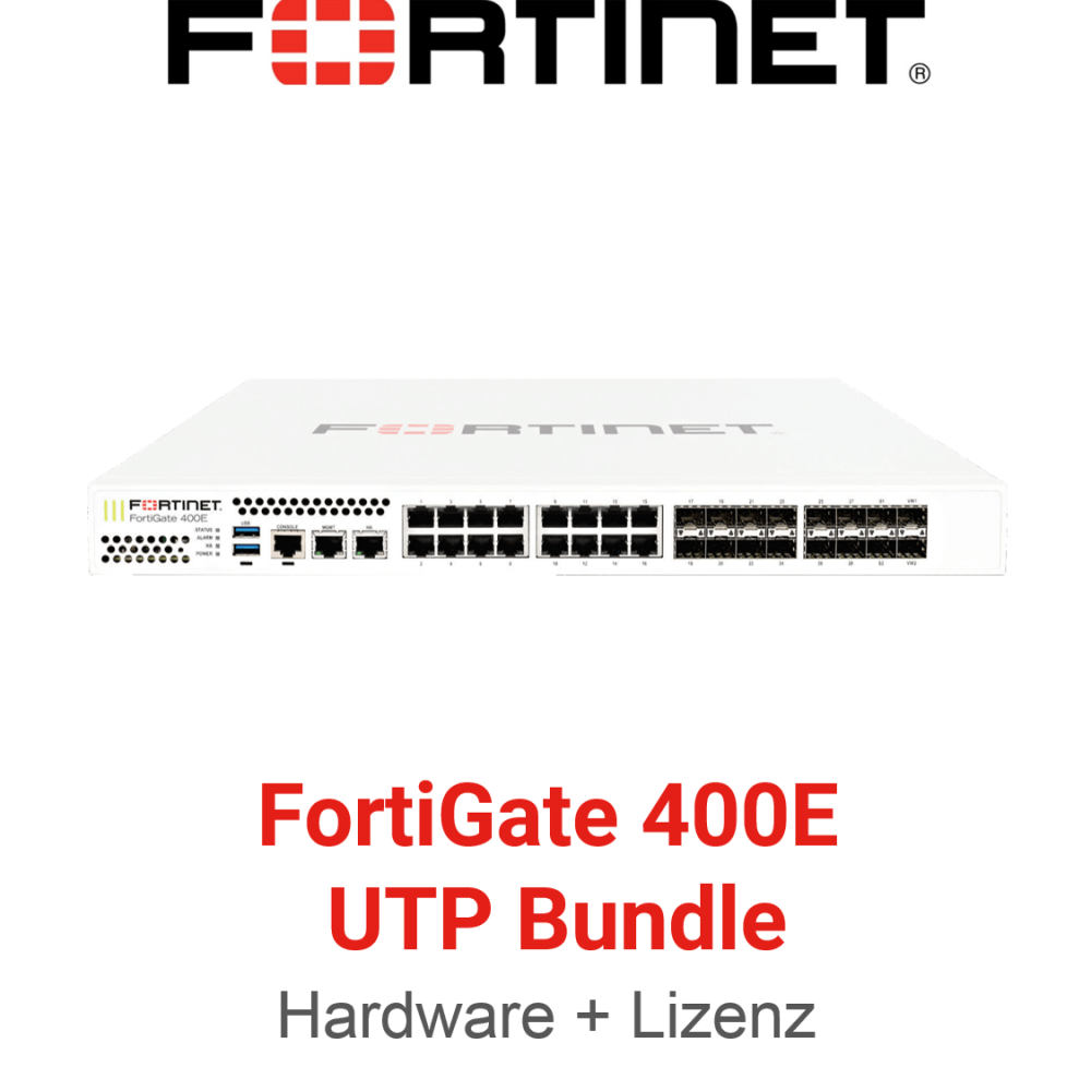 Fortinet FortiGate-400E - UTM/UTP Bundle (Hardware + Lizenz)