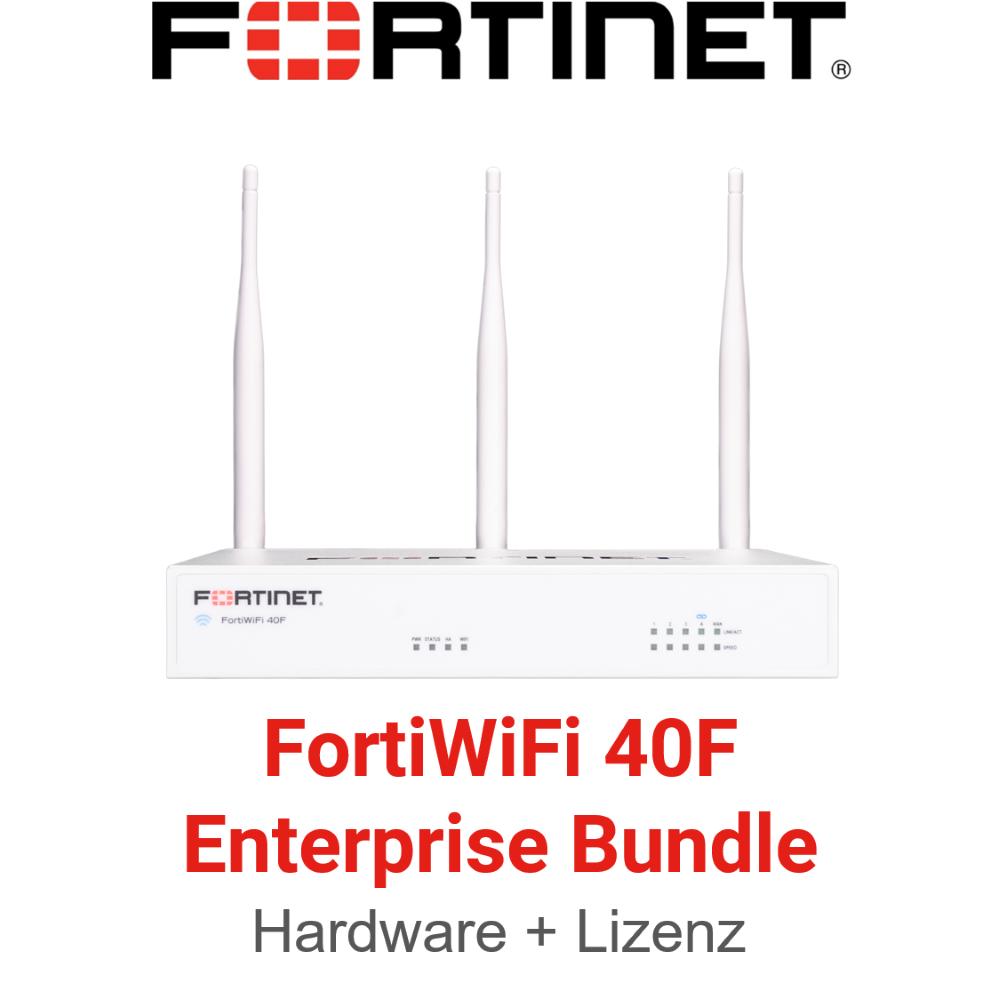 Fortinet FortiWifi 40F - Enterprise Bundle (Hardware + Lizenz)