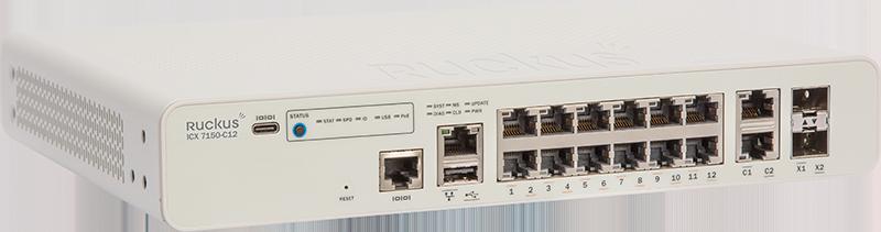 Ruckus ICX 7150-C12P Compact Switch