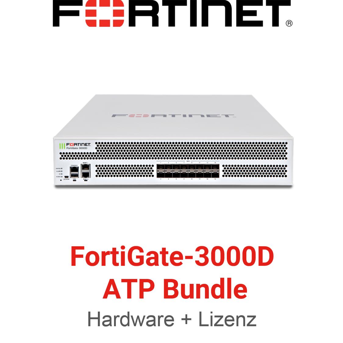 Fortinet FortiGate-3000D - ATP Bundle (Hardware + Lizenz)