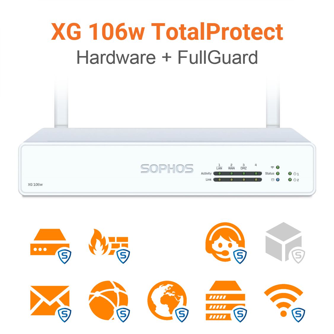 Sophos XG 106w TotalProtect Bundle (Hardware + Lizenz)