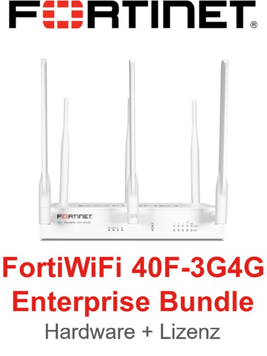 Fortinet FortiWifi-40F-3G4G - Enterprise Bundle (Hardware + Lizenz)