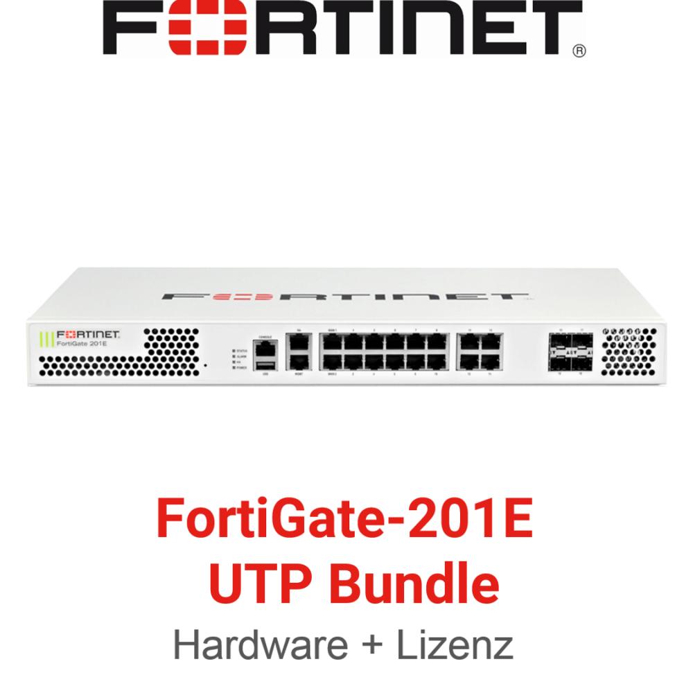 Fortinet FortiGate-201E - UTM/UTP Bundle (Hardware + Lizenz)