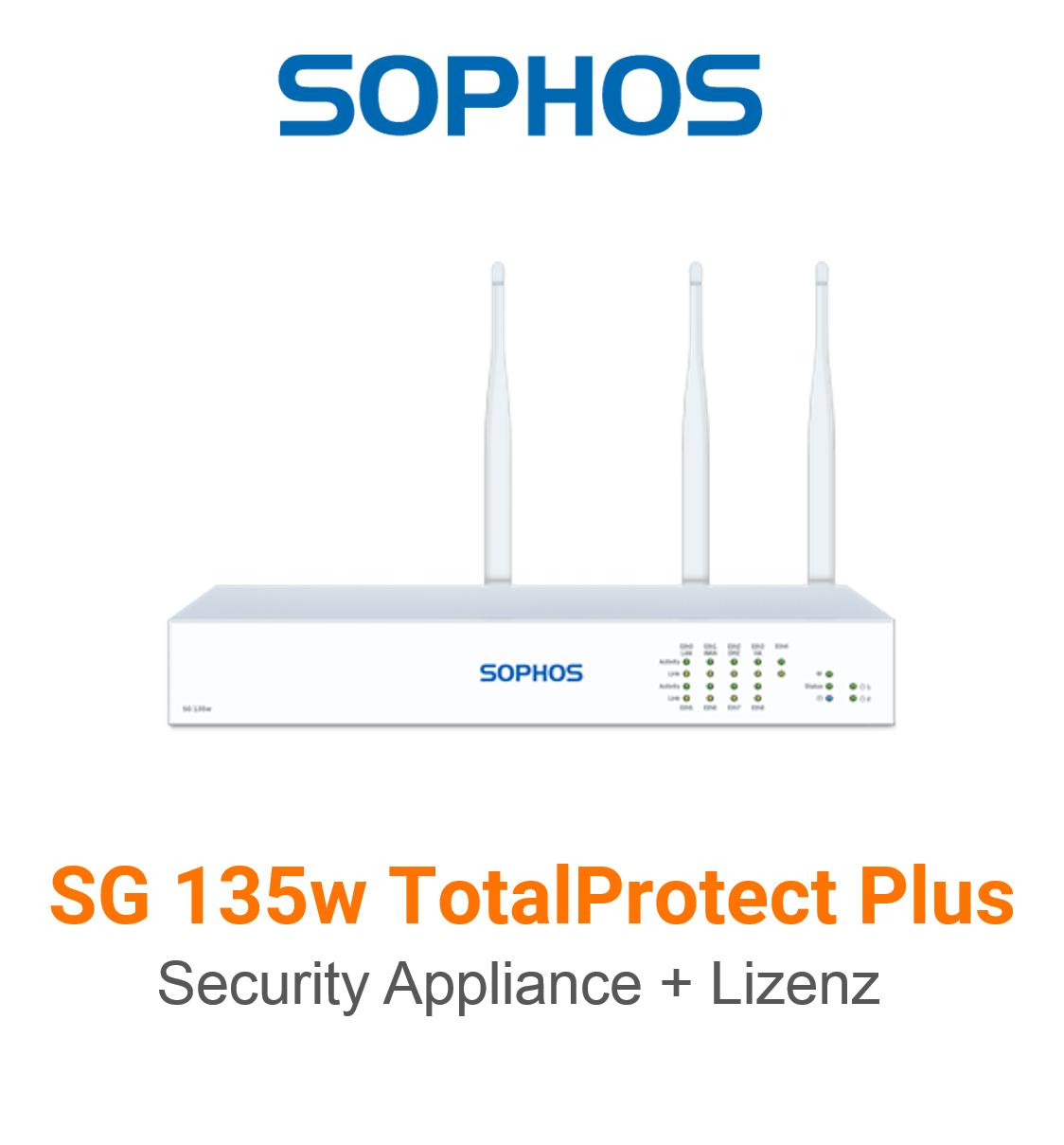 Sophos SG 135w TotalProtect Plus Bundle (Hardware + Lizenz)