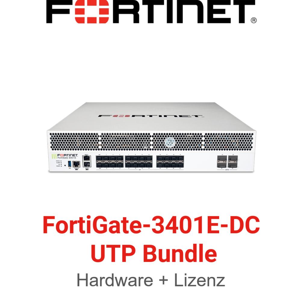 Fortinet FortiGate-3401E-DC UTM/UTP Bundle