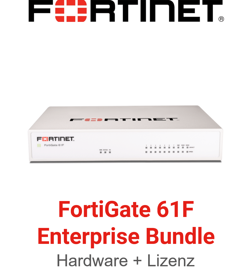 Fortinet FortiGate-61F - Enterprise Bundle (Hardware + Lizenz)
