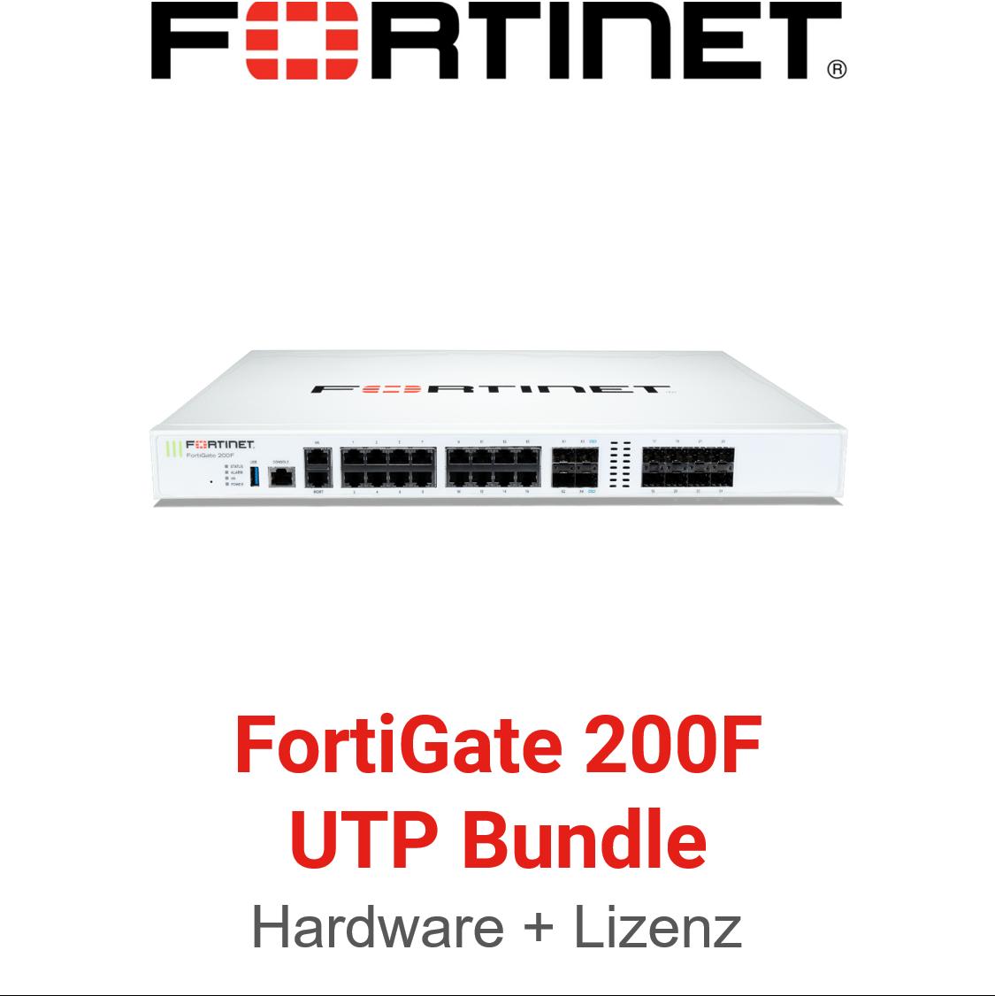 Fortinet FortiGate-200F - UTM/UTP Bundle (Hardware + Lizenz)