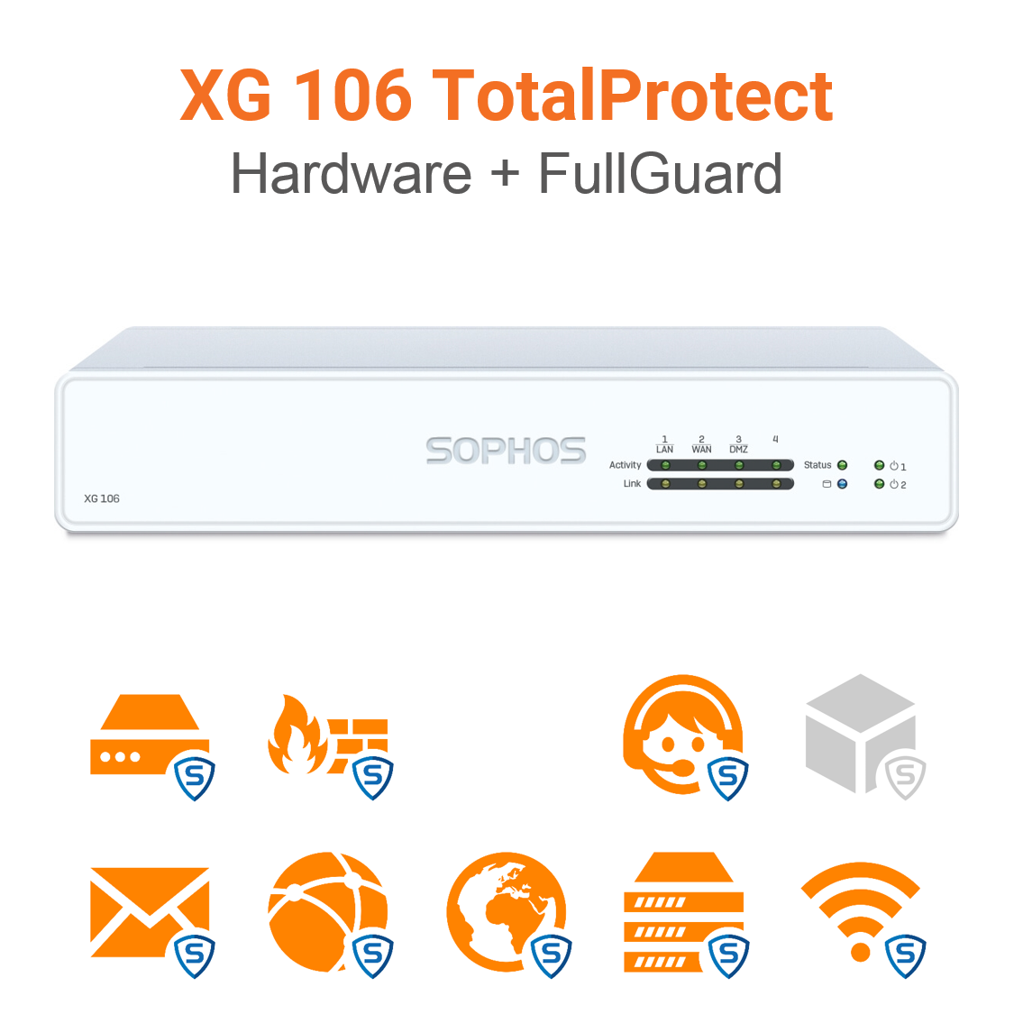 Sophos XG 106 TotalProtect Bundle (Hardware + Lizenz)