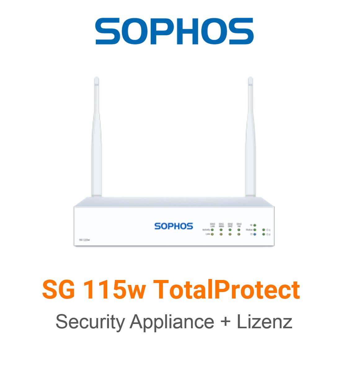Sophos SG 115w TotalProtect Bundle (Hardware + Lizenz)