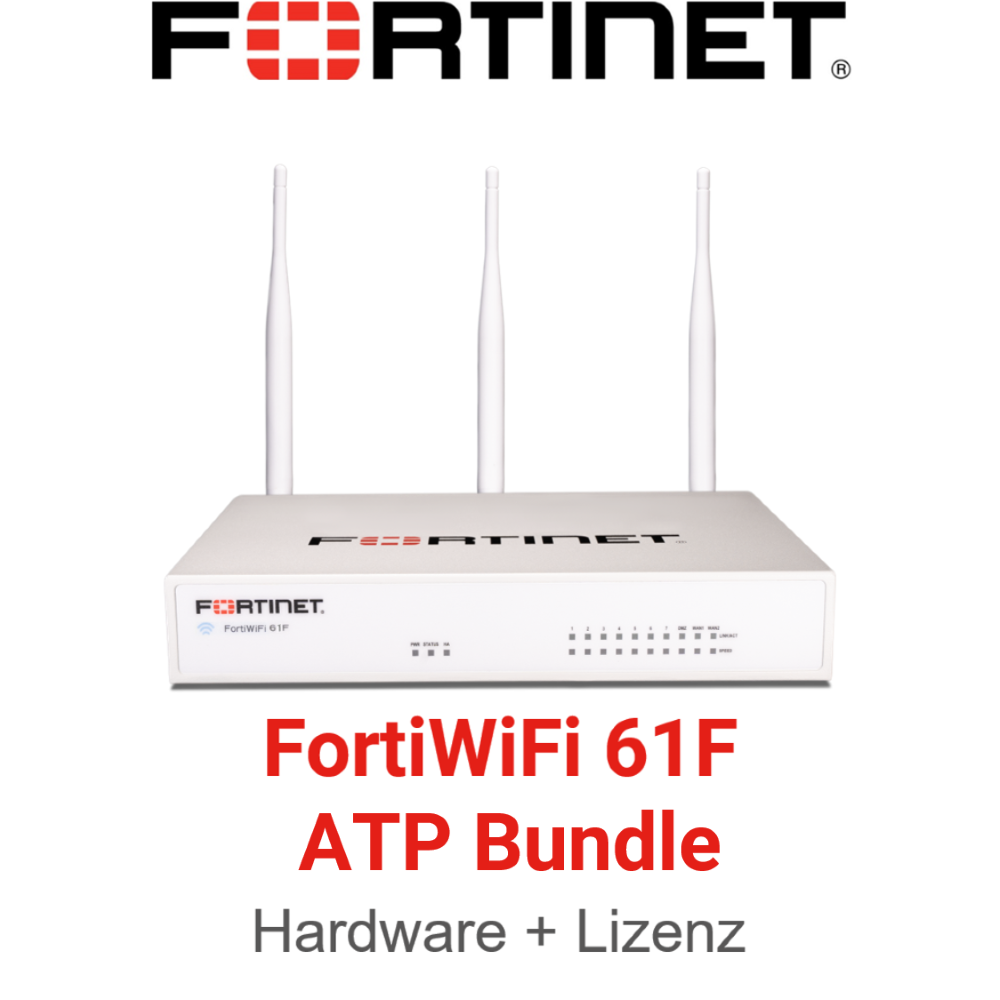 Fortinet FortiWiFi-61F - ATP Bundle (Hardware + Lizenz)