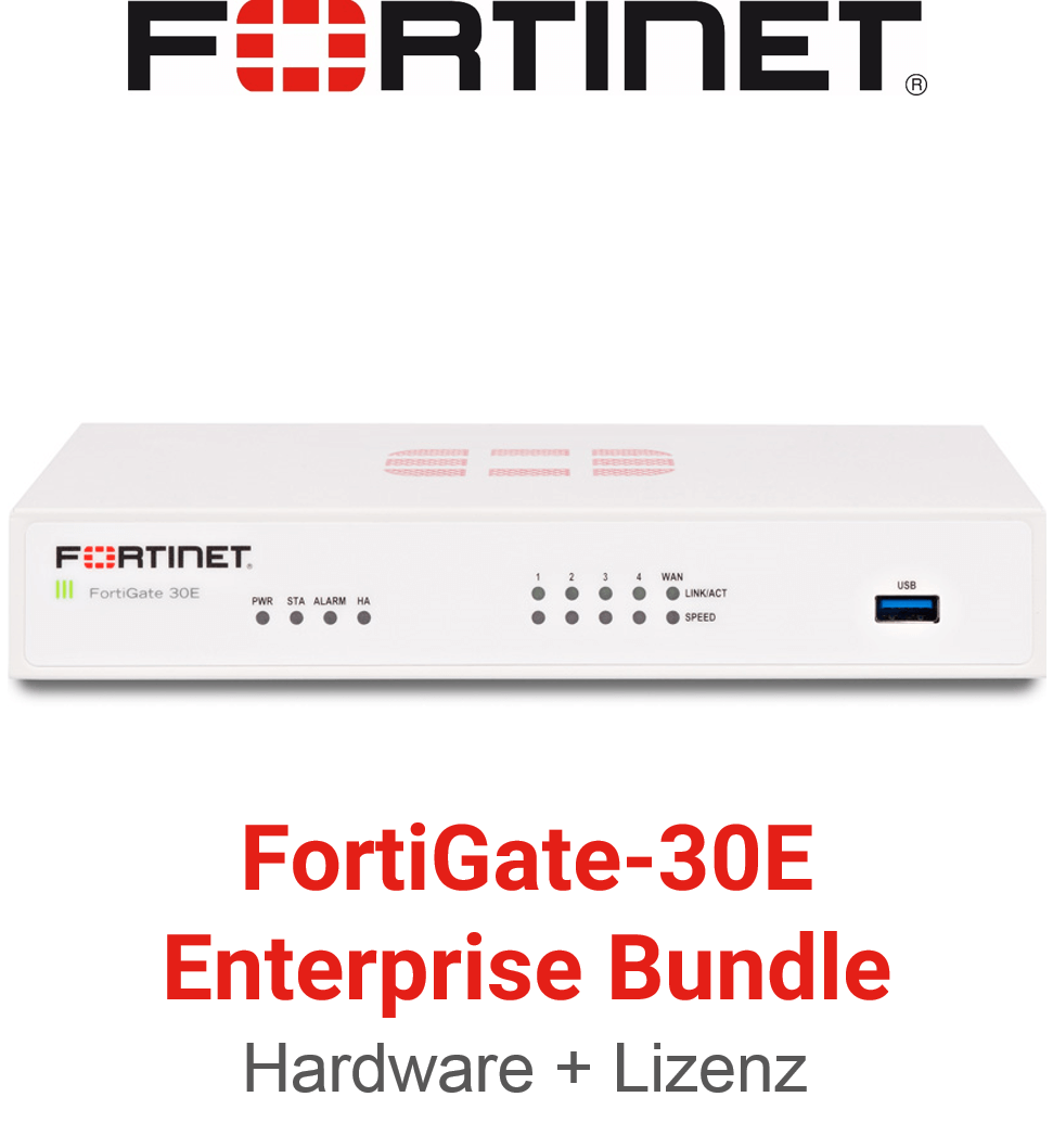 Fortinet FortiGate FG-30E - Enterprise Bundle (Hardware + Lizenz)