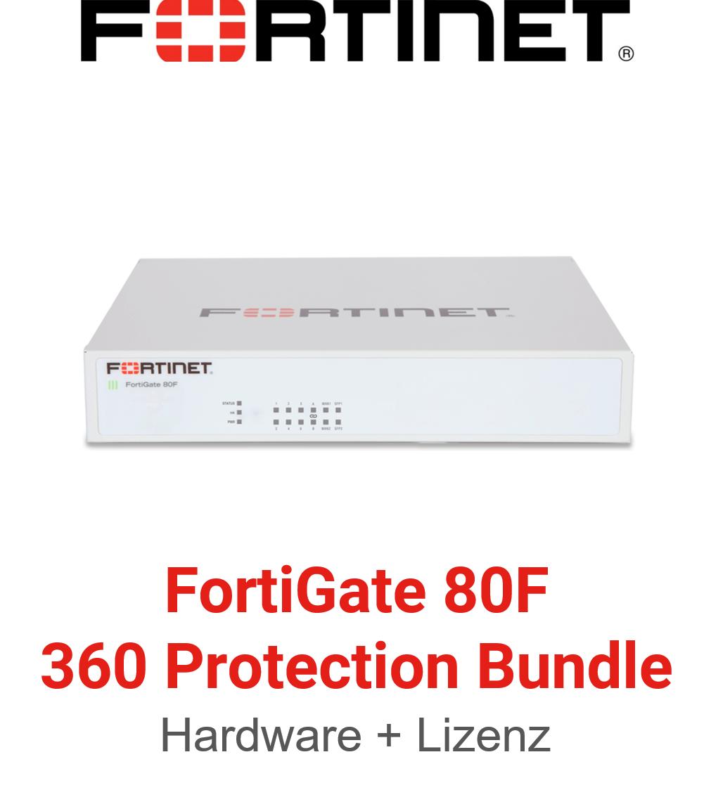 Fortinet FortiGate-80F - 360 Bundle (Hardware + Lizenz)