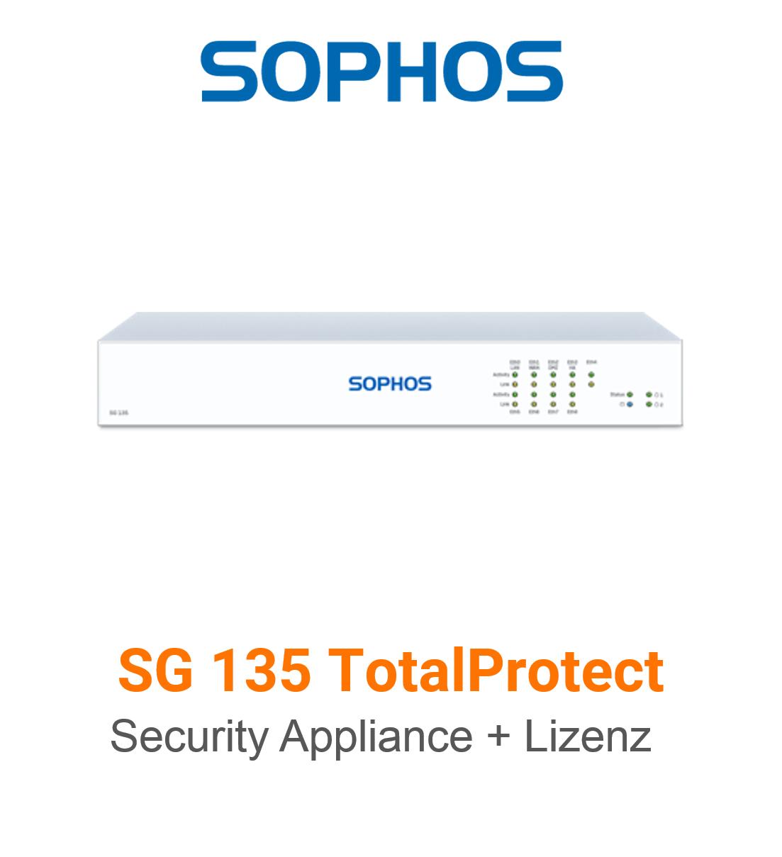 Sophos SG 135 TotalProtect Bundle (Hardware + Lizenz)