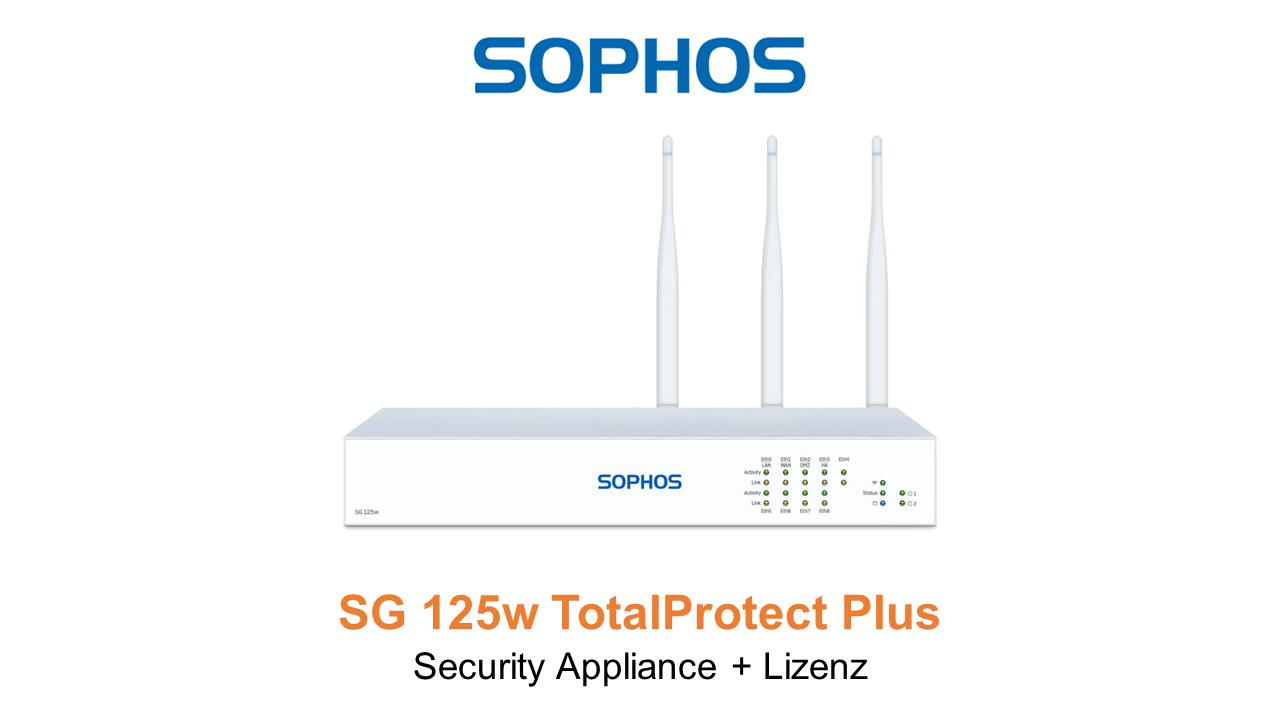 Sophos SG 125w TotalProtect Plus Bundle (Hardware + Lizenz)