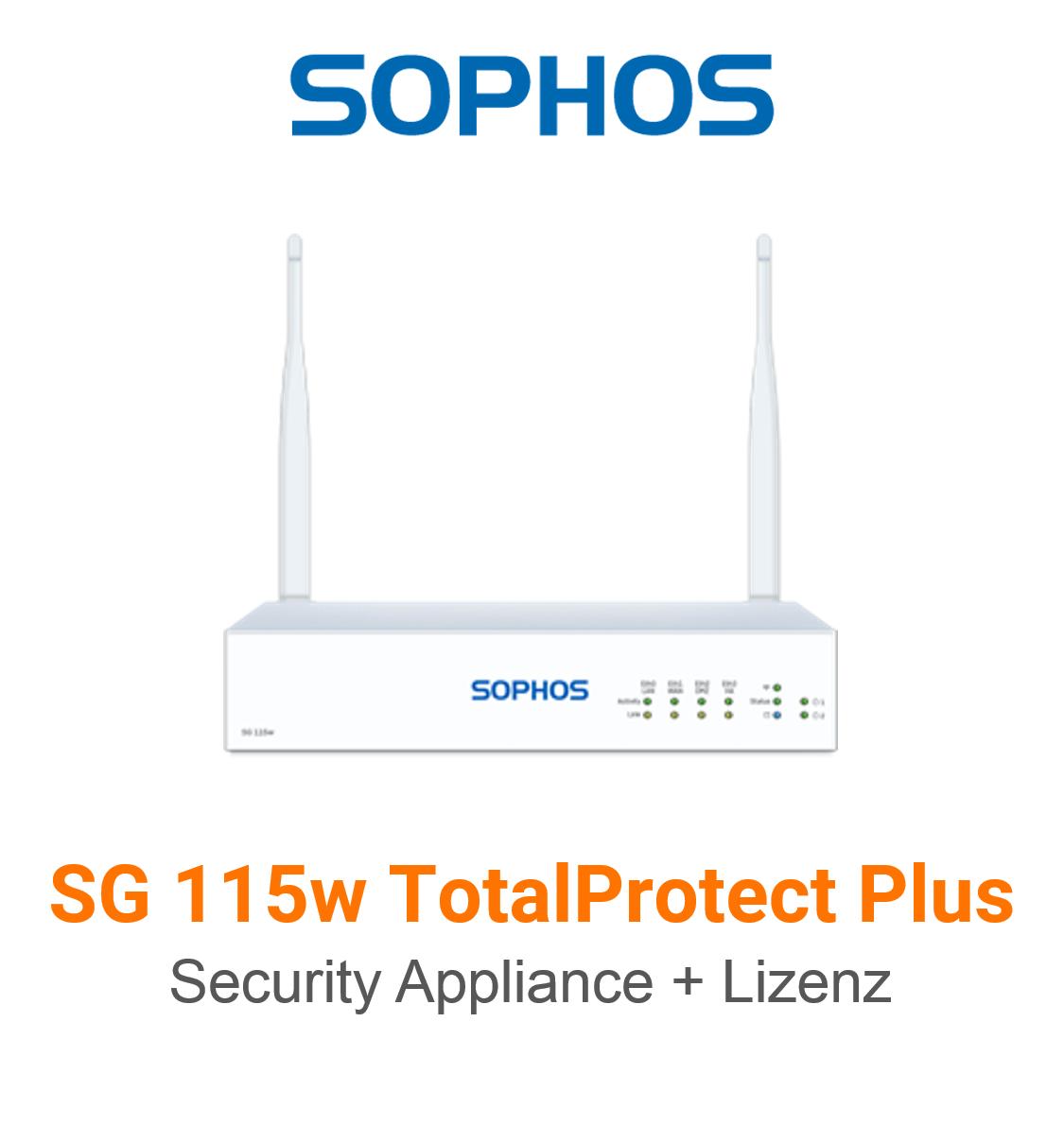 Sophos SG 115w TotalProtect Plus Bundle (Hardware + Lizenz)