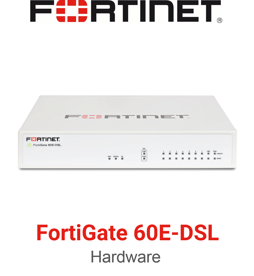 Fortinet FortiGate 60E DSL Firewall