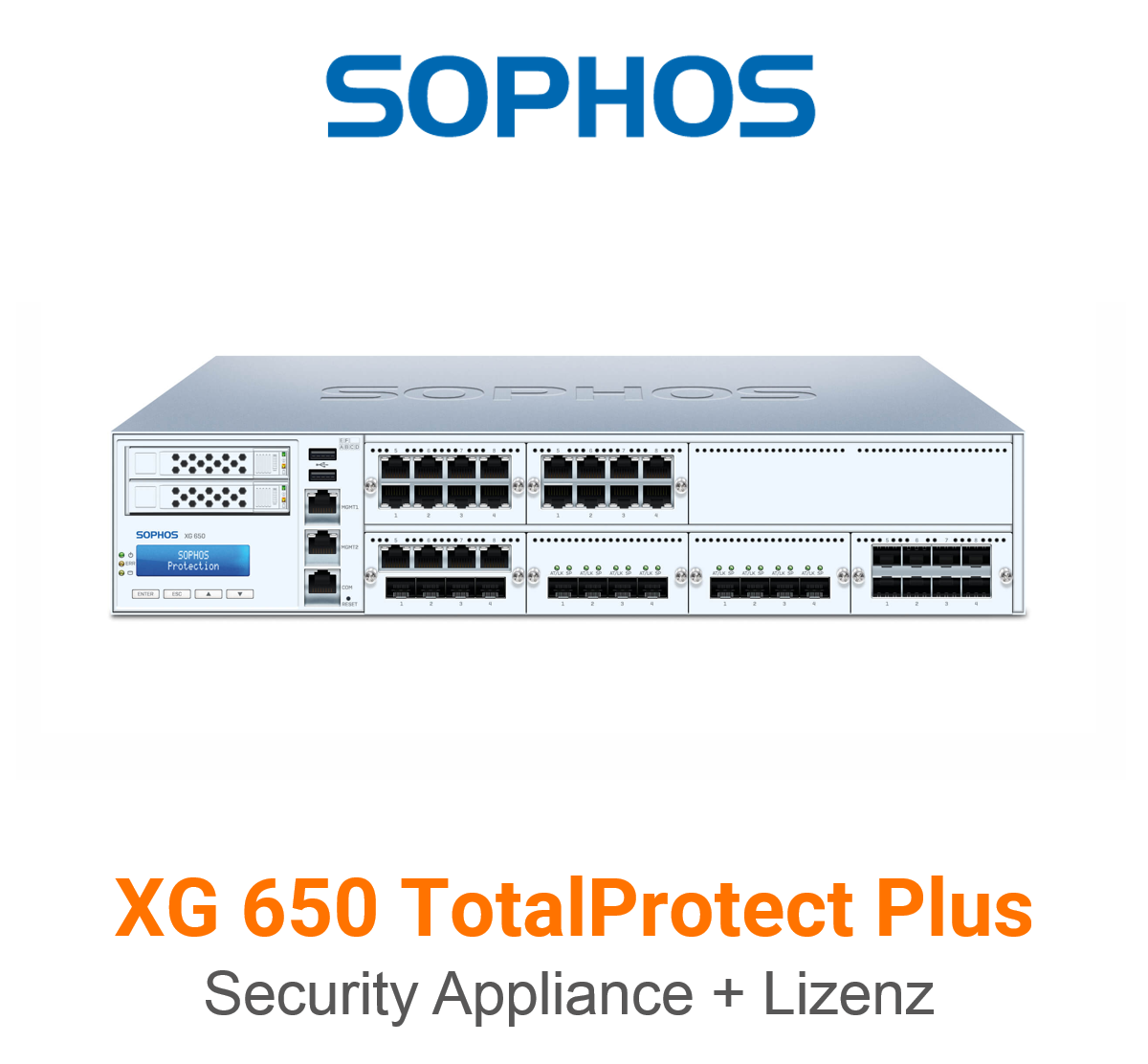 Sophos XG 650 TotalProtect Plus Bundle (Hardware + Lizenz)