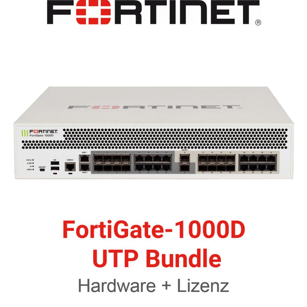 Fortinet FortiGate-1000D - UTM/UTP Bundle (Hardware + Lizenz)